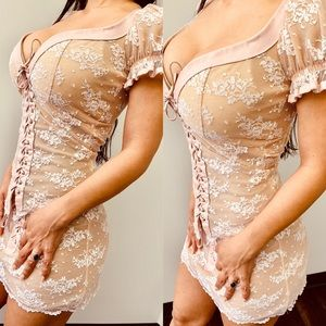 Lace 2 piece Trashy lingerie outfit